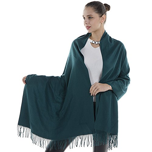 Niaiwei Women Scarf Plaid Blanket Scarves Wraps Shawl winter Cashemere scarf (Dark Green)