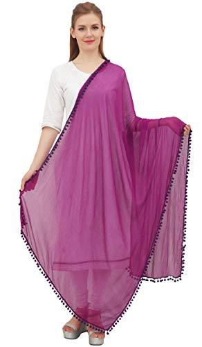 Phagun Indische Frauen Chiffon Dupatta Ansatz-Verpackungs-lange Stola Schal Chunni-Plum