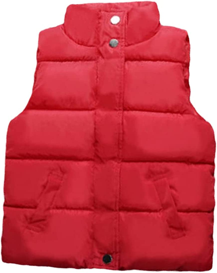 FLZS Boys and Girls Stand Collar Vest Down Children's Thickened Waistcoat Vest