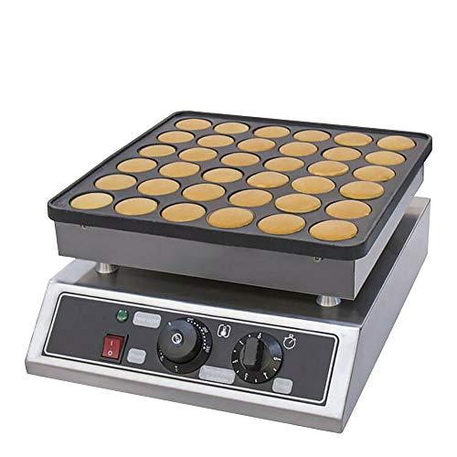 Gofrera de 36 agujeros para gofres belgas antiadherentes eléctricas Mini Dutch Pancakes...