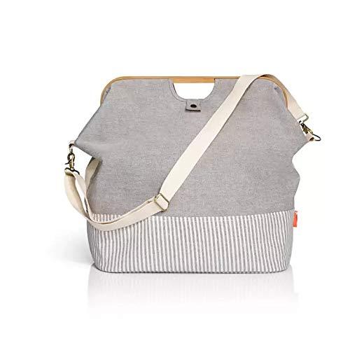 Prym Store & Travel Bag, Bambus, Grau, 45 x 30 x 50 cm