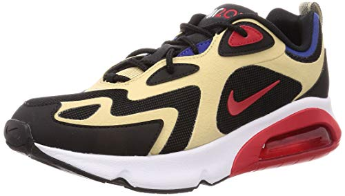 Nike Herren Air Max 200 Laufschuh, Team Gold/Universität Rot-Schwarz-Weiß, 44.5 EU