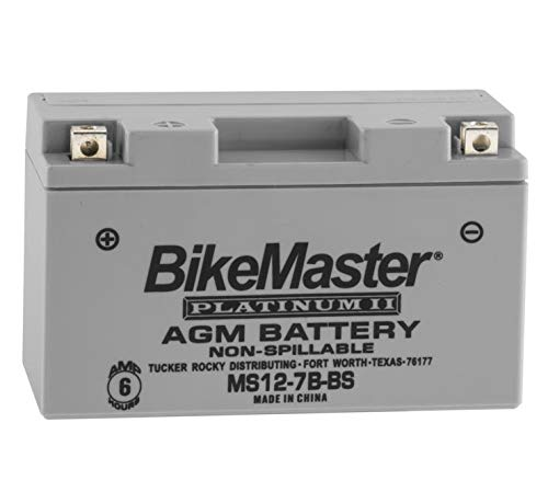 BikeMaster AGM Platinum II Battery MS12-7B-BS For Suzuki DR-Z400SM 2005-2017