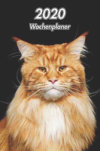 2020 Wochenplaner: Maine Coon | 107 Seiten, 15cm x 23cm ca. A5 | Taschenkalender | Terminplaner | Tagebuch | Terminkalender | Organizer für Katzenliebhaber