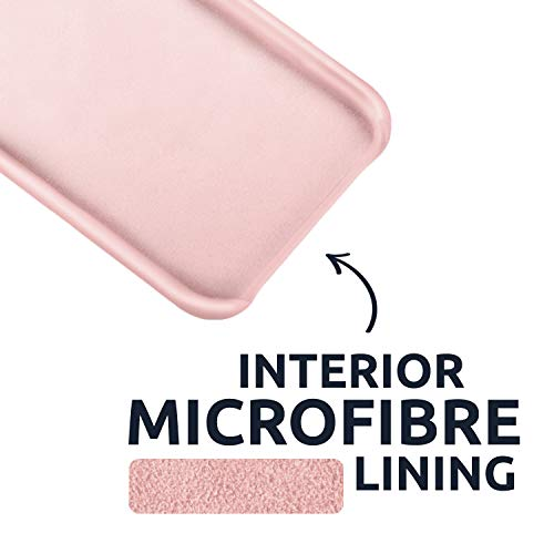 Olixar for Samsung Galaxy S20 FE Silicone Case - Non Slip - Soft Touch - Gel Rubber Full Body Protection Shockproof Cover - Wireless Charging Compatible - Pastel Pink