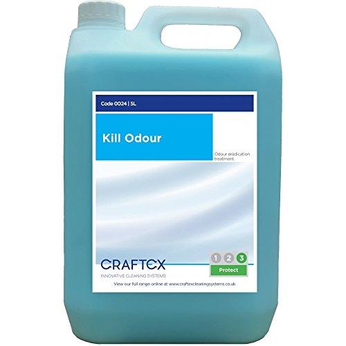 TheChemicalHut Craftex Kill Odour - Rimuovi odori alla fragranza di pera per tappeti e tappezzeria, confezione da 5 L. Include penna antibatterica TCH