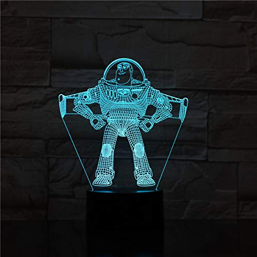 Toy Story Buzz year tronaut Cartoon spaceman Kit Space 3D LED Night Light USB Table Lamp Kids birthday Gift Bedside home decoration