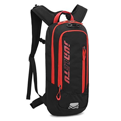 Mochila impermeable de 10 L para bicicleta de los hombres y las mujeres de MTB de bicicleta de montaña bolsa de agua de nylon ciclismo senderismo camping correr mochila de hidratación negro rojo