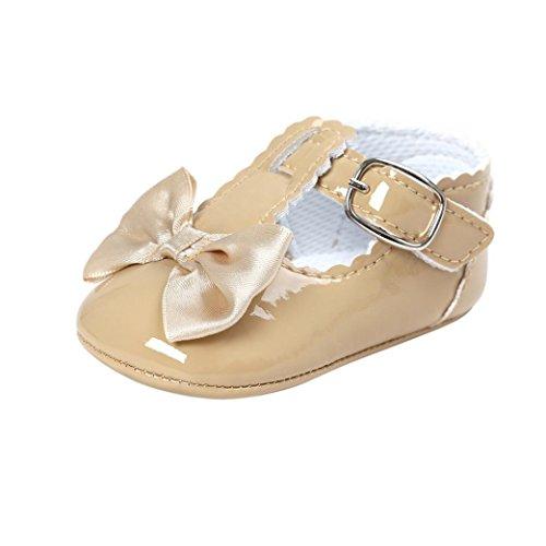 Schuhe Babys,LianMeng Baby Bowknot Prinzessin Schuhe Weiche Sohle Schuhe Kleinkind Turnschuhe Freizeit Schuhe (12 (6~12Monate), Khaki)