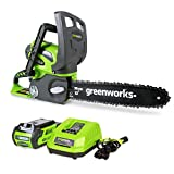 Greenworks 40V 12-Inch Cordless Chainsaw, 2.0 AH Battery and...