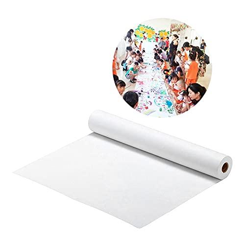 HDMJ Rollo de Papel de Dibujo 2 unids Dibujo de Papel Rollo de Papel Papel Craft Papel Rodillo de Papel Adecuado para; Cuadro (Color : White, Size : 1000x22.5cm)