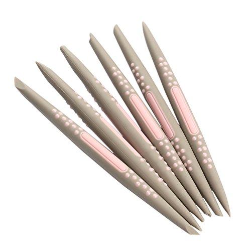 BESTONZON - 6 herramientas de esculpir azúcar para fondant, herramientas de modelado para decoración de tartas, herramientas de tallado para azúcar, pasta de goma, chocolate, color al azar