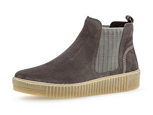 Gabor Damen Chelsea Boots 33.731, Frauen Stiefelette,Stiefel,Halbstiefel,Bootie,Schlupfstiefel,flach,Wallaby/beige(natu,43 EU / 9 UK