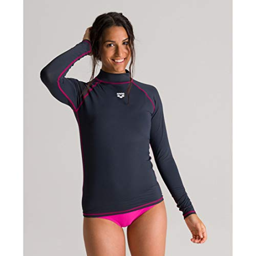 ARENA Rash UV - Camiseta de Manga Larga para Mujer, Mujer, Camiseta UV, 003131, Gris...
