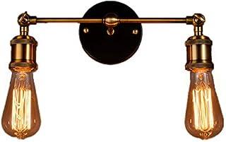 Susuo ブラケットライト アーム式 ウォールライト アンティーク調 北欧 レトロ モダン E26口金 角度調整可 回転でき スポットライト 居間照明 壁掛け照明 門灯 おしゃれ インテリア 室内 電球無し 1灯 ゴールデン ss372217