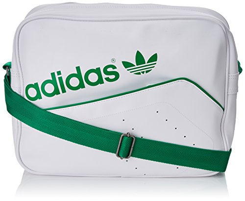 adidas Tasche Perforated Airliner White/Green, 12 x 38 x 28 cm, 13 Liter
