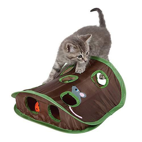 猫のおもちゃ、折りたたみ式インタラクティブポップアップ猫のおもちゃ、ハントおもちゃマウスハントおもちゃボールおもちゃ猫のおもちゃ