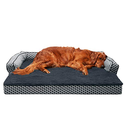 Furhaven Orthopedic Pet Bed for Dogs and Cats - Plush Fur...