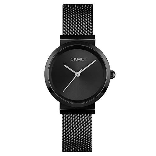 Women Watch, Waterproof Quartz Analog Watch with Time Date, Business Dress Wrist Watches for Women (Black)