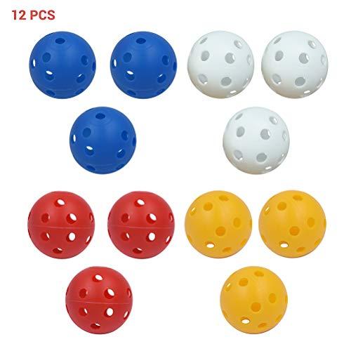 Golf Praxis Ball, kunststof holle effecten golfballen Wiffle golfballen voor schommel praktijk thuisgebruik 41 mm