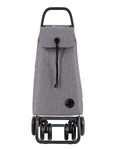 Rolser Carro I-MAX Tweed 4 Ruedas 2 Giratorias Plegable - Gris