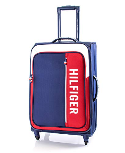 Tommy Hilfiger Winston Softside Expandable Spinner Luggage, Navy, 24 Inch