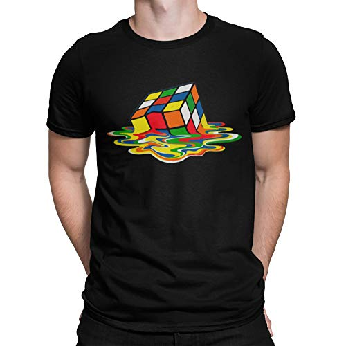 Camiseta cubo rubik derretido