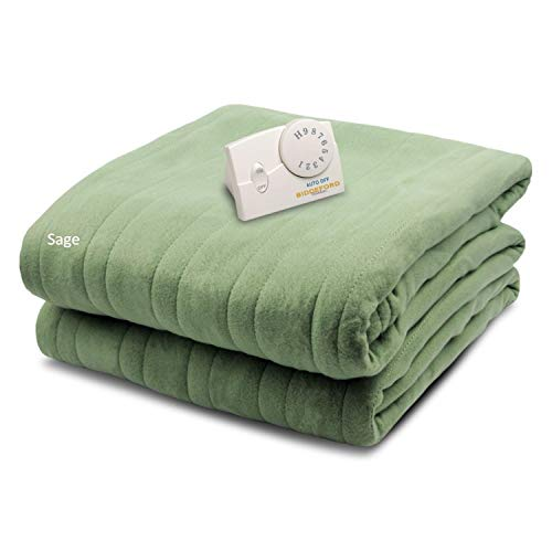 Biddeford Blankets Comfort Knit Electric Heated Blanket with...