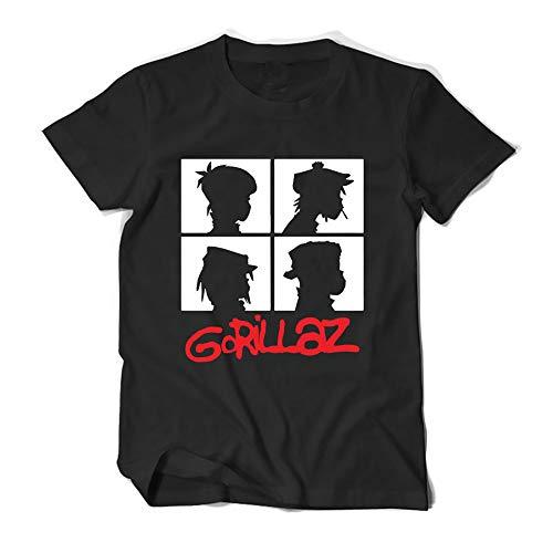 Gorillaz T-Shirt Unisex Kurzarm T-Shirt Sommer-Basic Shirt Crewneck Tunika Baumwolle übersteigt einfaches Hemd Unisex (Color : A05, Size : Height-180cm(Tag XL))