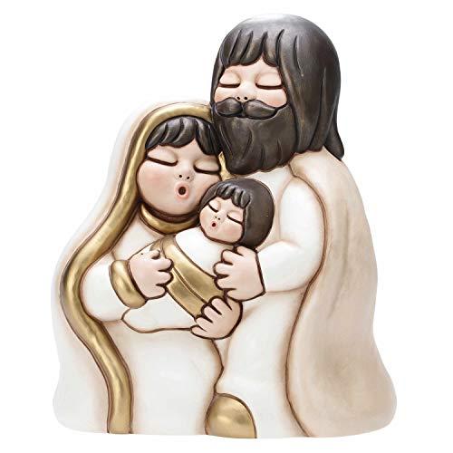 THUN® - Statuina Maxi Sacra Famiglia - Soprammobile Da Collezione - Presepe In Ceramica - I Classici