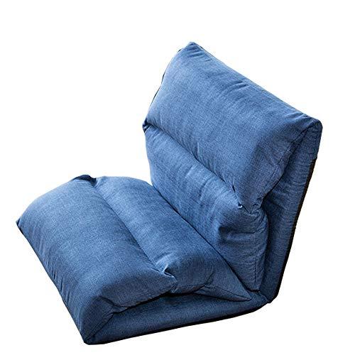 LJFYXZ Canapé Paresseux Chaise Canapé Simple Pliable Simplicité Moderne Réglage à 6 Vitesses Facile à enlever et à Laver Confortable et Respirant Salon Chambre Coussin (Couleur : Bleu)