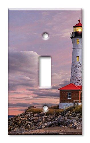 Art Plates Placa de pared para interruptor de gran tamaño, diseño de faro de MI