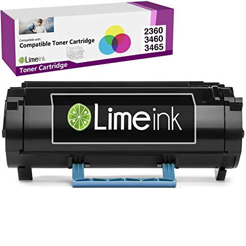 Limeink Black Remanufactured M11XH 331-9805 High Yield Laser Toner Cartridge Compatible for Dell B2360 B3460 B3465 B2360d B2360dn B3460dn B3465dn B3465dnf 2360dn 2360d 3460dn 2360 3460 3465 Printers