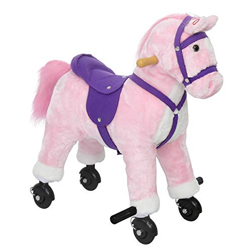 Kids Riding Horse on Wheels Rocking Horse Walking Pony Ride on with Sound