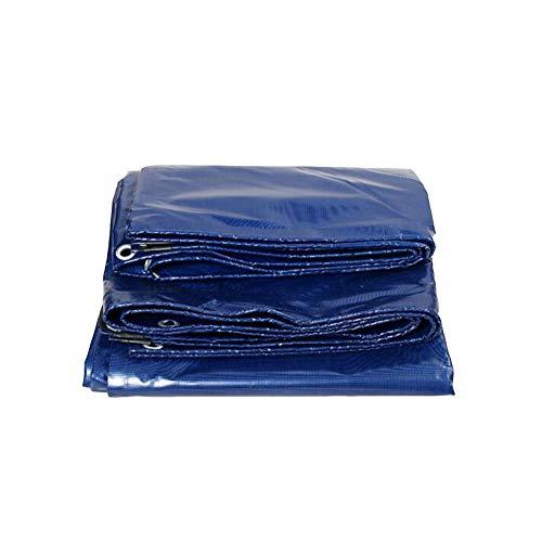 Dall bâche Bâche Bâche Imperméable Tarp Sol Feuilles De Couverture Tente Abri Heavy Duty Renforcé De Plein Air Bleu 550G / M²