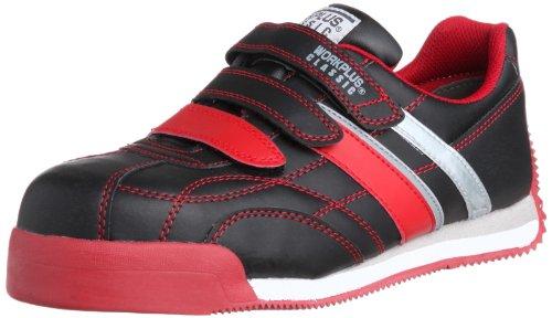 [ミドリ安全] 安全作業靴 JSAA認定 マジックタイプ プロスニーカー WPC555 メンズ ブラック/レッド 23.0(23cm)