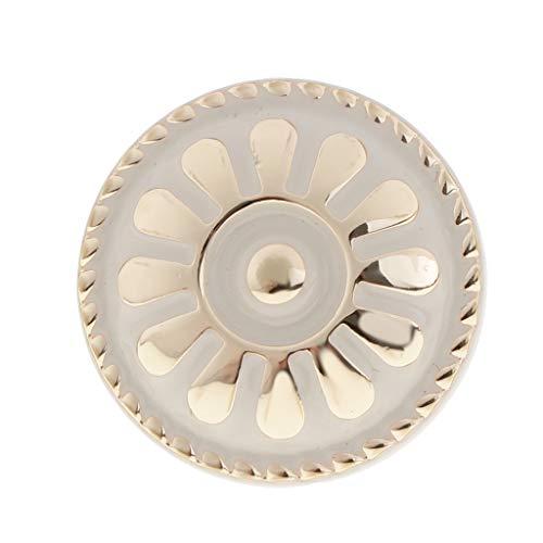 Antyczne klamki do drzwi ze stopu cynku metalowe gałki do szuflad wyciągane vintage brąz gałki do szafki kuchennej sprzęt meblowy - biały, 2,5 x 2,5 x 2 cm