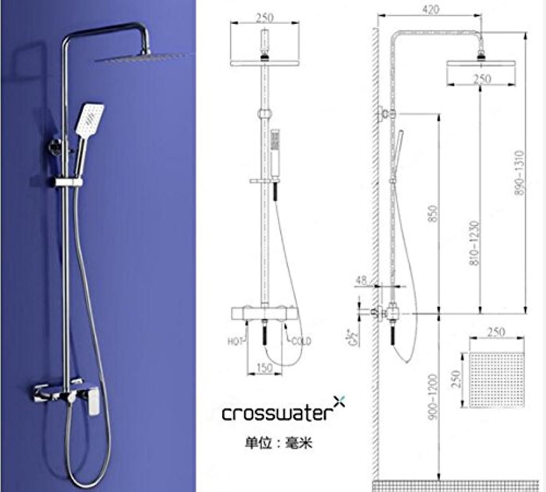 Neue Ankunft Luxus Messing Bad Dusche Wasserhahn Set mit groer Platte für die Aufnahme von Zubehr