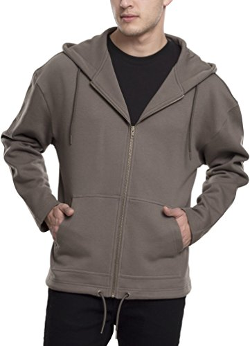 Urban Classics Herren Long Sweat Zip Hoody Kapuzenpullover, Grün (Army Green 1144), XX-Large