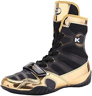 Starpro Chaussures de Boxe de Lutte Sup/érieure Boxeurs Formateurs Se Battent Botte Cool et Sec pour au Combat Fitness Arts Martiaux MMA Muay Thai Semelle en Caoutchouc Maille Respirante