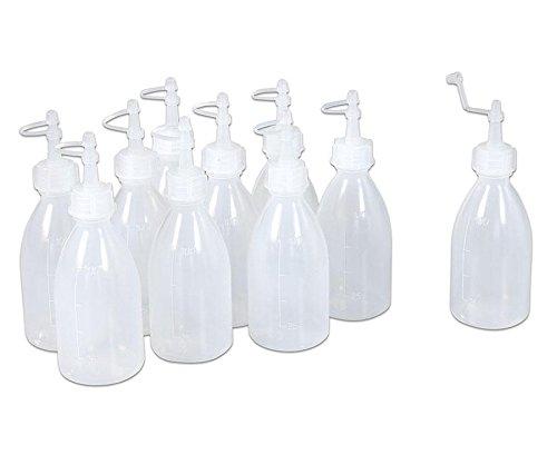 Betzold 52395 - Leer-Flasche im Set, 10 x à 120 ml - Spritzflasche zum Befüllen - Plastikflasche Kleber Nachfüllflasche