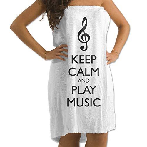Gebrb Toallas de baño,Toalla de Playa,Manta de Playa Bath Towels Play Music 31'x51' Premium Towel Blanket Super Soft Absorbency