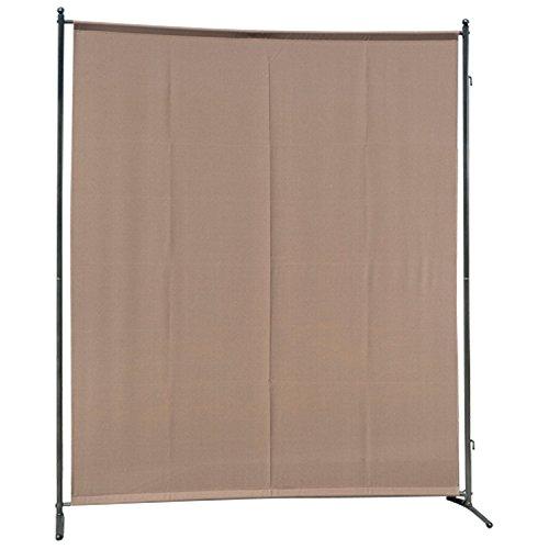 gartenmoebel-einkauf Sichtschutz Trennwand 150x190cm, Metall + Textilbespannung taupefarben, verlängerbar
