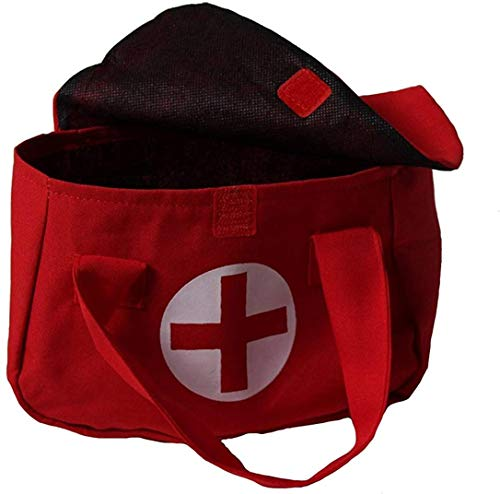 Storybook Wishes Red Pretend Play Small 7'x5' Toy Doctor Medical Bag