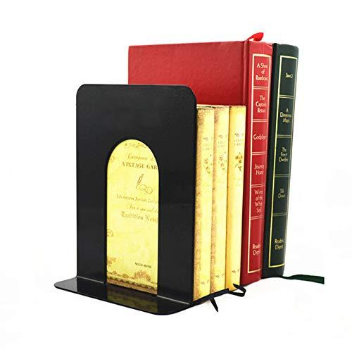 Buchstützen Metall, Bookends Buchständer/Lese Bücher Stütze/Rutschfeste Regale/Büro Library Home Dekorativ 1 Paar