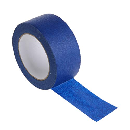 ULTECHNOVO Blau Maler Band Blau Masking Tape Premium Crepe Papier Masking Tape Zart Oberfläche Band für 3D Drucker Kennzeichnung Und Liefern Farbe Linien (90MM X 30M)