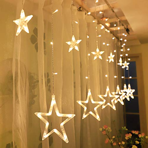 TaimeiMao lichtervorhang Fenster led,Lichtervorhang Lichter Weihnachtsbeleuchtung,Lichterkette,LED Lichterkette,LED Sterne Lichterkette,Lichtervorhang Fenster Sterne,LED Lichtervorhang Lichterkette