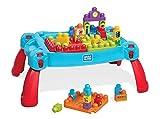 Mega Bloks mesa construye y aprende color azul...
