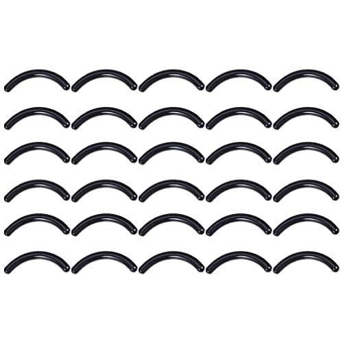 Minkissy 200 Pièces Recourbé- Cils Tapis Bigoudi Recharge Noir Silicone Bigoudi Remplacement Recharge Plaquettes Verser Universel Recourbé- Cils