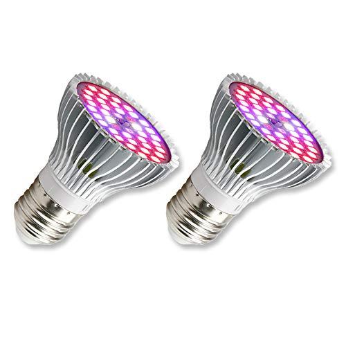 30W Pflanzenlampe E27 LED Vollspektrum, 160 Grad Pflanzenstrahler ohne Kabel, LED-Wachstumslampe, Pflanzenlicht Klein mit Rot Blau Licht, E27 Grow Lampe für Zimmerpflanzen/Terrarium/Bonsai, 2er-Set